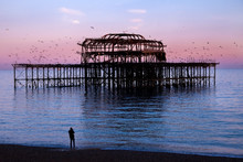 Brighton West Pier At Sunset W...