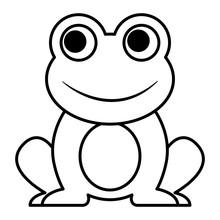 Frog Cute Animal Sitting Carto...