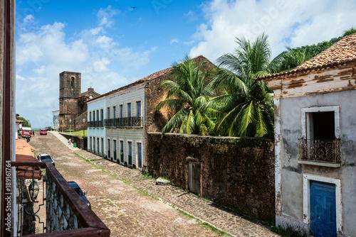 Aluminium Prints Brazil iconic views of Brazil: Matriz Church ruins in the historic city of Alcantara near Sao Luis, Maranhao State, Brazil