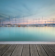 The marina of the Lac de Madine