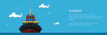 Banner With Tugboat, Pushboats...
