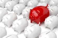 Unique Red Piggy Bank