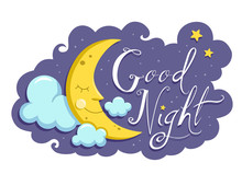 Good Night Moon Mascot Illustr...