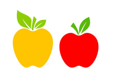 Yellow And Red Apple Vector Ca...