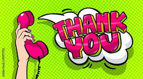 Plakaty Pop Art  thank-you-word-bubble-in-pop-art-comics-style