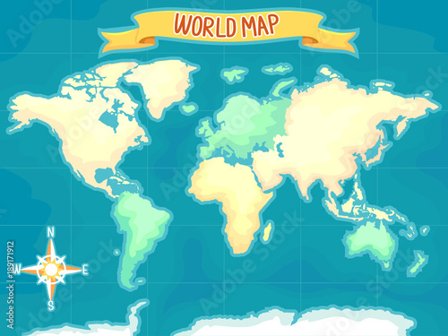 Geography World Map Illustration - Buy this stock vector and explore ...
