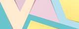 Fototapeta Na drzwi - Pastel paper banner 2