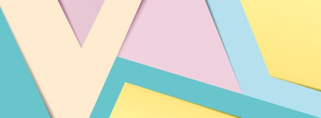 Pastel paper banner 2