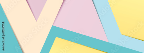 Photo  Pastel paper banner 2