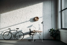 Bicycle And Working Table With...