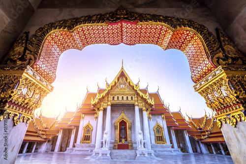 Cadres-photo bureau Bangkok The Marble Temple, Wat Benchamabopitr Dusitvanaram Landmark of Bangkok, Thailand