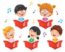 Vector Illustration Of Kids Ch...