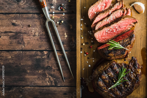 Photo sur Toile Viande Grilled marbled meat steak