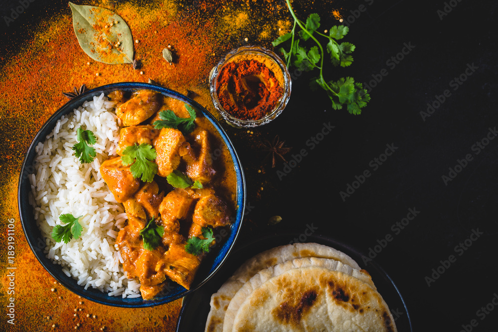 Fototapety, obrazy: Indian butter chicken background