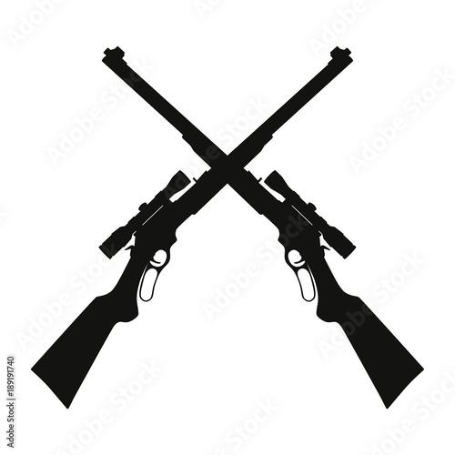 Fotografia Crossed sniper rifle guns