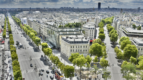 Champs Elysées Canvas Print