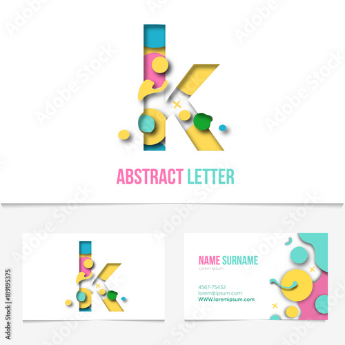 paper cut letter k realistic 3d creative letter design k letter template on the