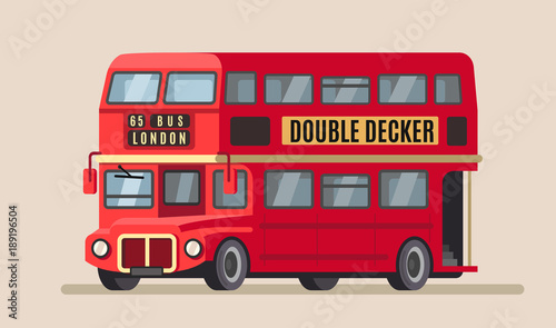 Fotomural double decker city bus