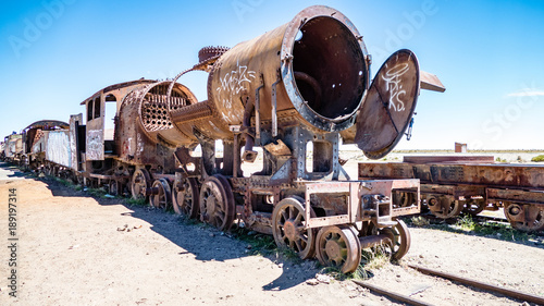 Canvas Prints Railroad Bolivia Train graveyard