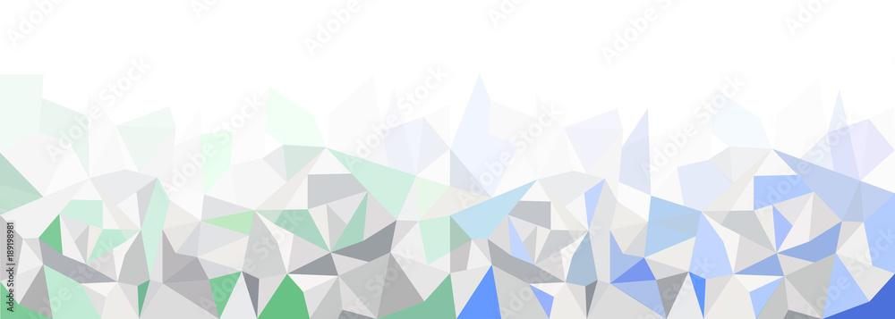 Wzór geometryczny, grafika tła, zielony niebieski, panorama <span>plik: #189198981 | autor: Patrick Daxenbichler</span>