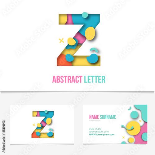 Paper cut letter z  Realistic 3D Creative Letter design  z