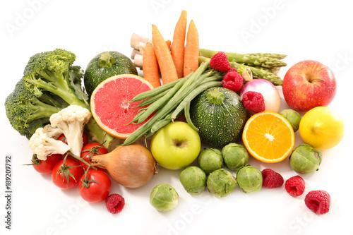 fruit and vegetable, low calorie concept © M.studio