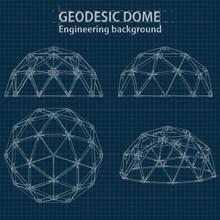 Drawing Blueprint Geodesic Dom...