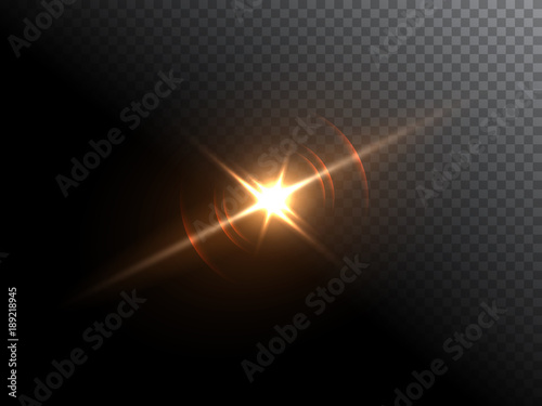 Obraz Bright flash isolated on transparent background. Vector illustration. - fototapety do salonu
