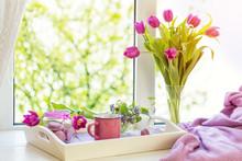 Cozy Home Concept. Purple Fres...