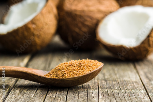Sweet coconut sugar.