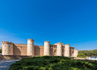 View of the palace Aljaferia, built in the 11th century in Zaragoza, Spain. Copy space for text.
