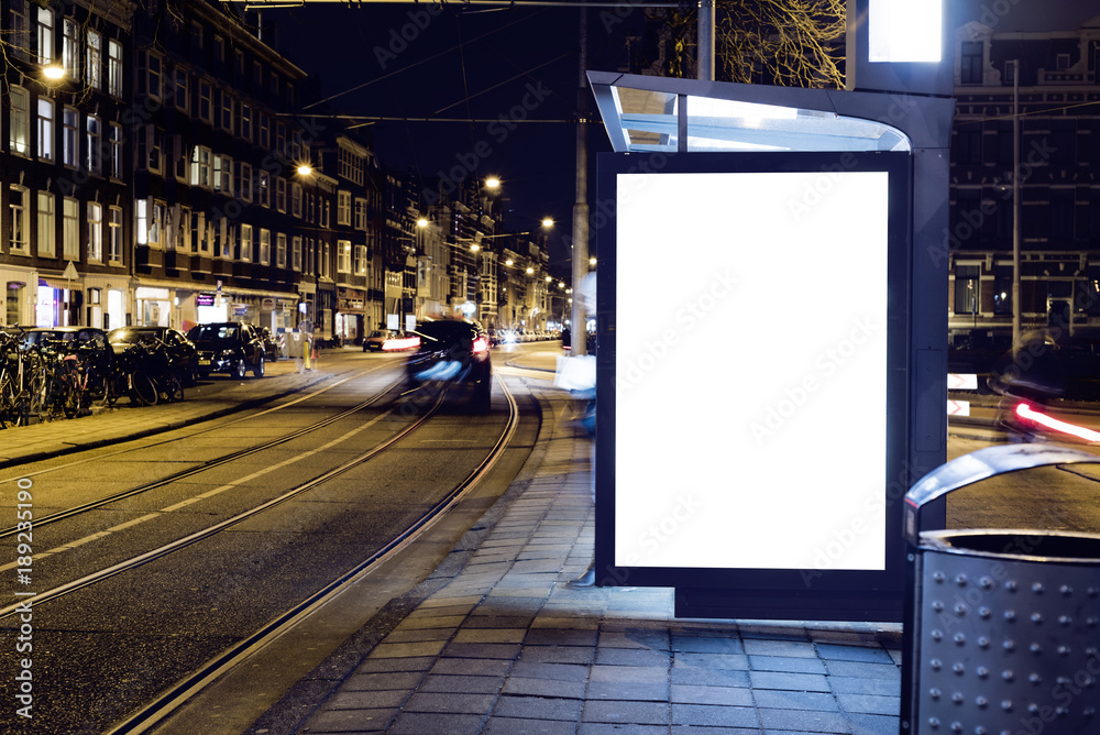 Fototapety, obrazy: Outdoor advertising billboard