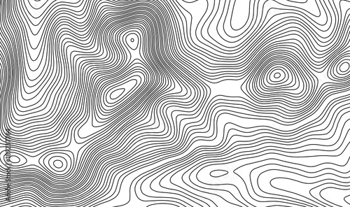 Topographic map contour background  Topo map with elevation  Contour