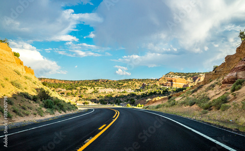 Foto op Plexiglas Route 66 Historical Route 66. Road to New Mexico