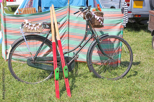 Bicycle and stilts Canvas-taulu
