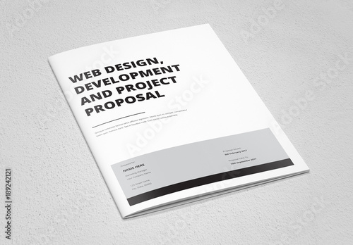 Minimalist Business Proposal Layout 1 Buy This Stock Template And