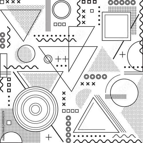 Tło geometryczne minimalizm, wzór Memphis