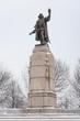 Big Christopher Columbus statue in Chicago park