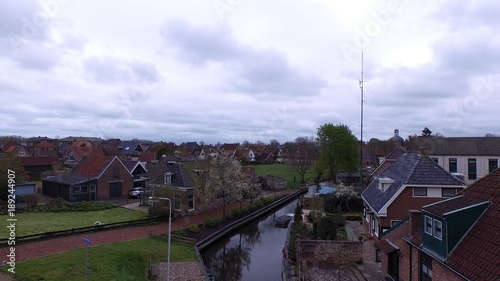 Photo Typical dutch village in the east of Holland