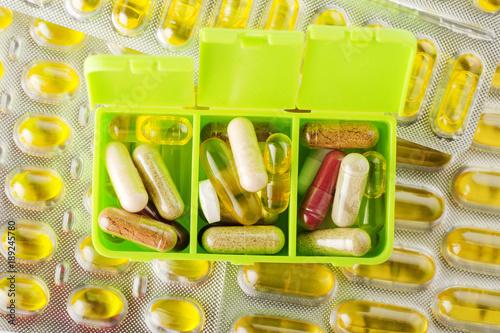 Fotografie, Obraz  ziołowe suplementy diety