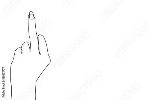 Fotografiet  Middle finger gesture.
