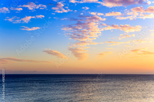 Tuinposter Canarische Eilanden Water, horizon and beautiful sky, Canary Islands, Spain