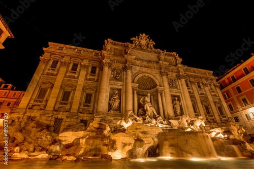 Trevi Fountain Long Exposure at Night © Nicholas