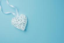 Wicker White Decorative Heart ...