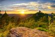 canvas print picture - Burg Trifels bei Sonnenuntergang
