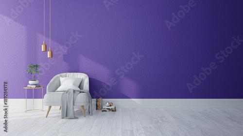 Modern interior of living room ,Ultraviolet home decor ...