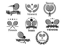 Vector Icons For Tennis Sport ...