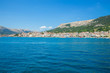 Croatia, sea and boats. Travel photo. Peoples and trees.