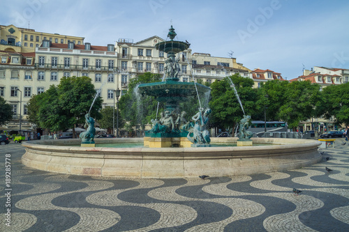 Portugal, Lisabon, city, houses, waterfall. 2014 Wallpaper Mural