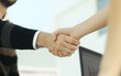image of a firm handshake